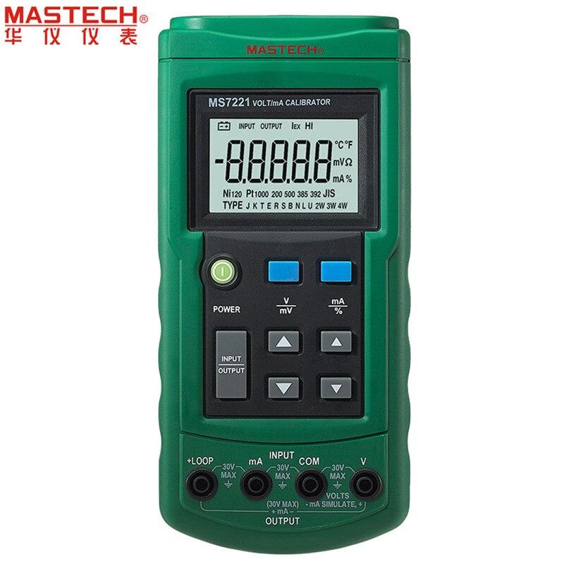 Mastech MS7221 Volt/mA Calibrador de Tensão Atual Fonte/Saída DC Passo 0-10 V 0-24mA Tester Medidor