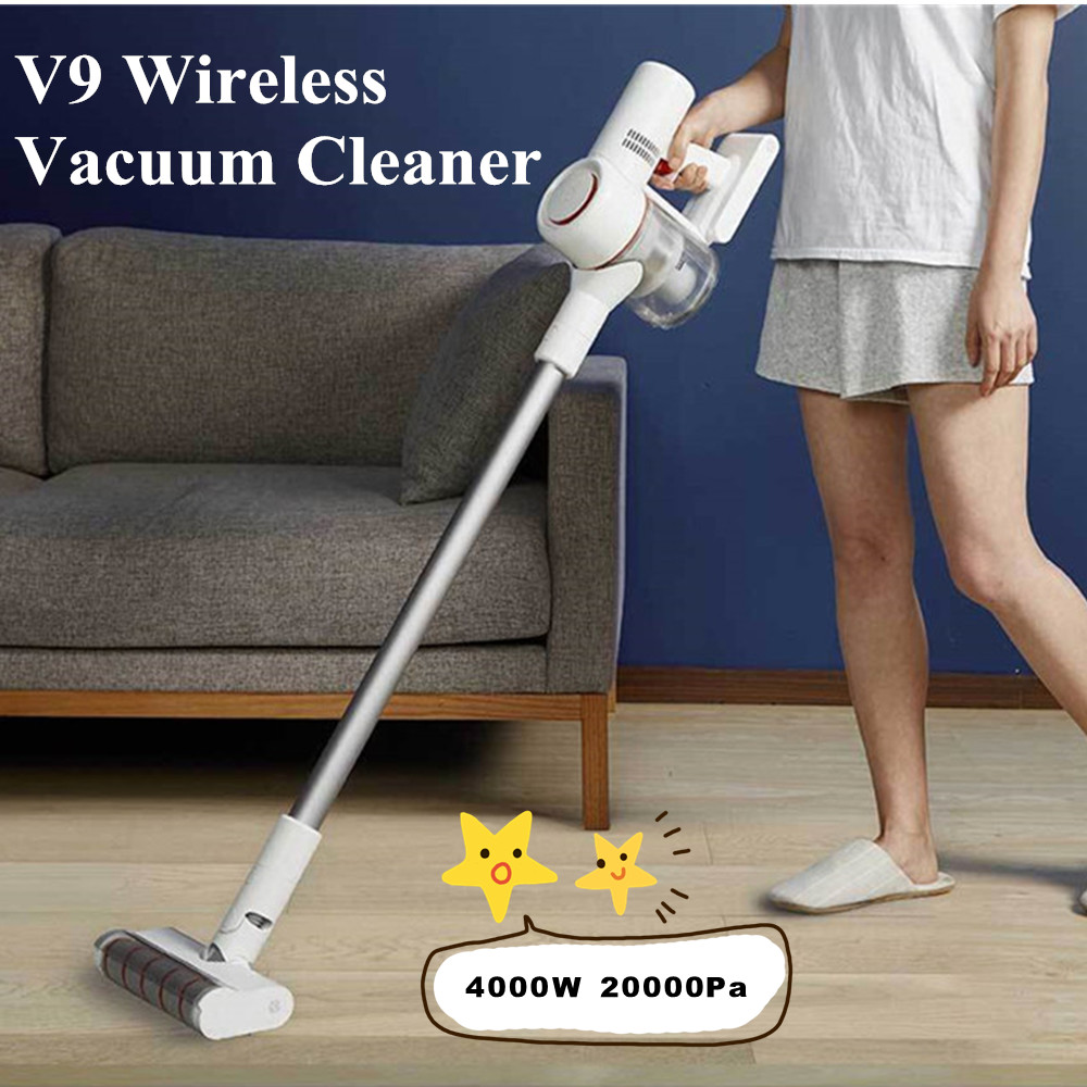 2019 xiaomi dreame v9 vacuum cleaner handheld cordless stick aspirator vacuum cleaners 20000pa. Black Bedroom Furniture Sets. Home Design Ideas
