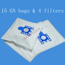 15pcs Cleanfairy dust filter bags compatible with Miele S5210 S5211 S5261 TT5000 S2121 S8310 8390 8590 replacement for FJM GN