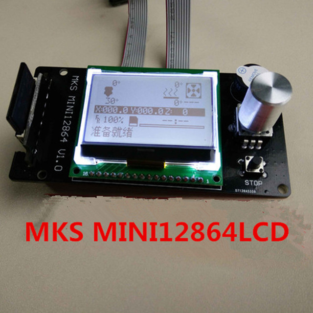 MKS MINI12864LCD mini 12864 smart affichage 3d imprimante Reprap LCD Reprapdiscount contrôleur Graphique Complet pour carte mère