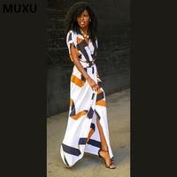 MUXU dress floral sexy dresses woman vestidos moda feminina ropa mujer white moda feminina long african dresses for women woman