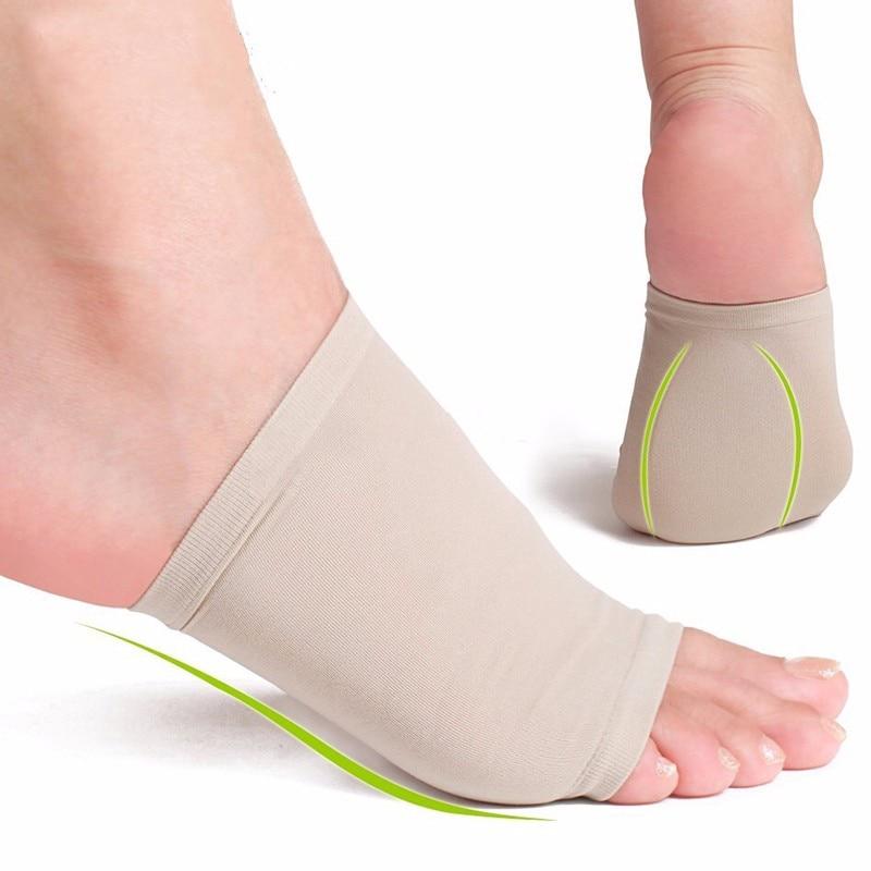 2pcs/lot Gel Plantar Fasciitis Arch Support Sleeve Cushion Heel Spurs/Heel Neuromas Flat Feet Massage Orthotic Insole Pad P0085