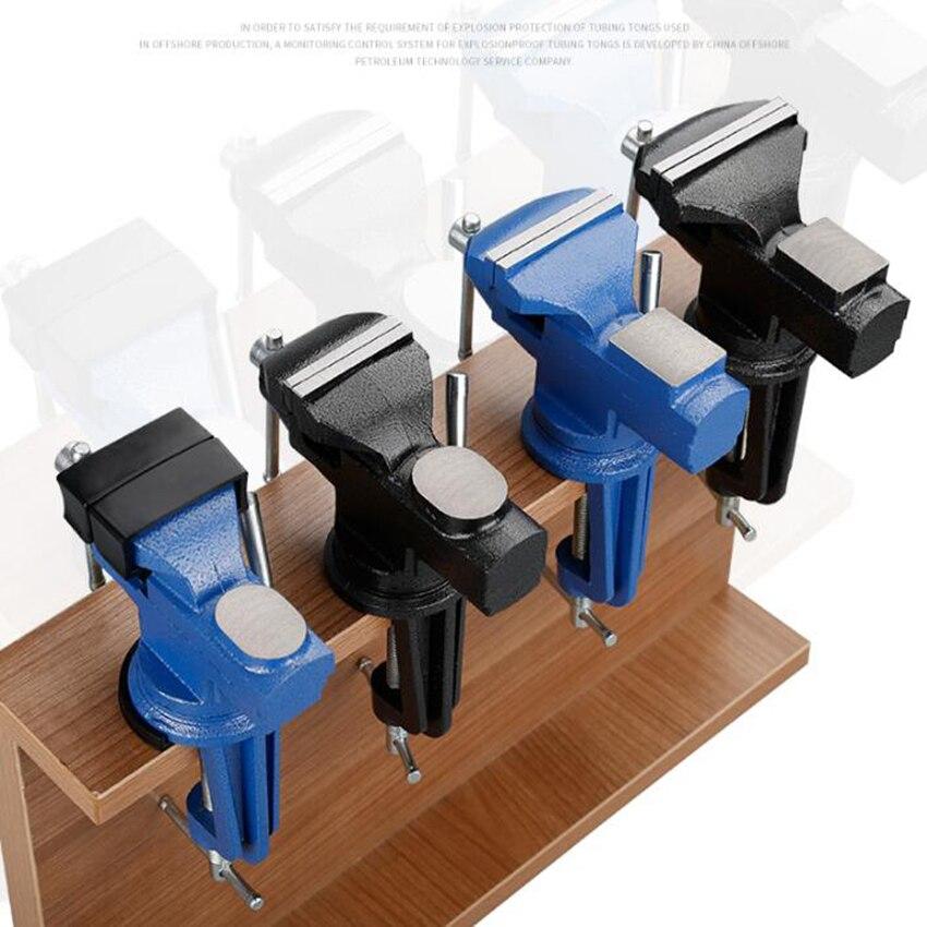 50mm Mesa pesada Banco Vise Universal Vise escritorio multifuncional 360 grados abrazadera accesorio Candelabro colgante moderno LICAN para comedor de oficina cocina Lustre de onda de aluminio Avize candelabro moderno accesorios de iluminación