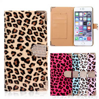 For IPhone 7 Case Fashion Wallet Leopard Flip Leather Case For IPhone 6 6S 7 Plus