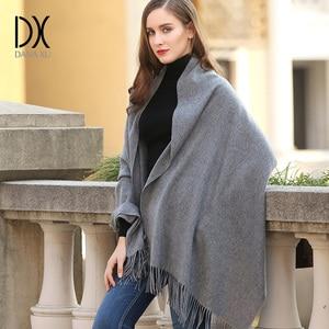 Image 1 - 2019 di inverno di Marca di lusso Plaid Sciarpa di Cachemire Delle Donne di Grandi Dimensioni Coperta Wrap Caldo di Lana Sciarpa Donne Sciarpa di Pashmina Scialli e Sciarpe