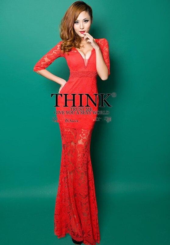 Распродажа; кружевное платье с v-образным вырезом и коротким рукавом; vestido de festa robe de soiree; вечерние платья; Abendkleider; H0559