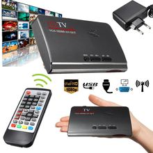 1080 P Full HD HDMI DVB-T T2 TV Box VGA/AV Sintonizador Receptor Convertidor Con Mando a distancia