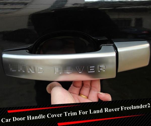 Silver Black Chrome Car Door Handle Cover Trim Sticker For Land Rover Freelander 2 2011 2012