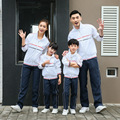 New Spring Family Look Clothing Casual Sport Suit Set Family Matching Outfits Mother and Daughter Father Sportswear DQ227