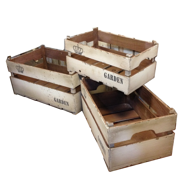 Online get cheap wood fruit crates for Vintage crates cheap