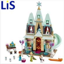 Lis 519pcs Arendelle Castle Building Blocks Model Set Princess Anna Elsa figures Christmas gift Figures