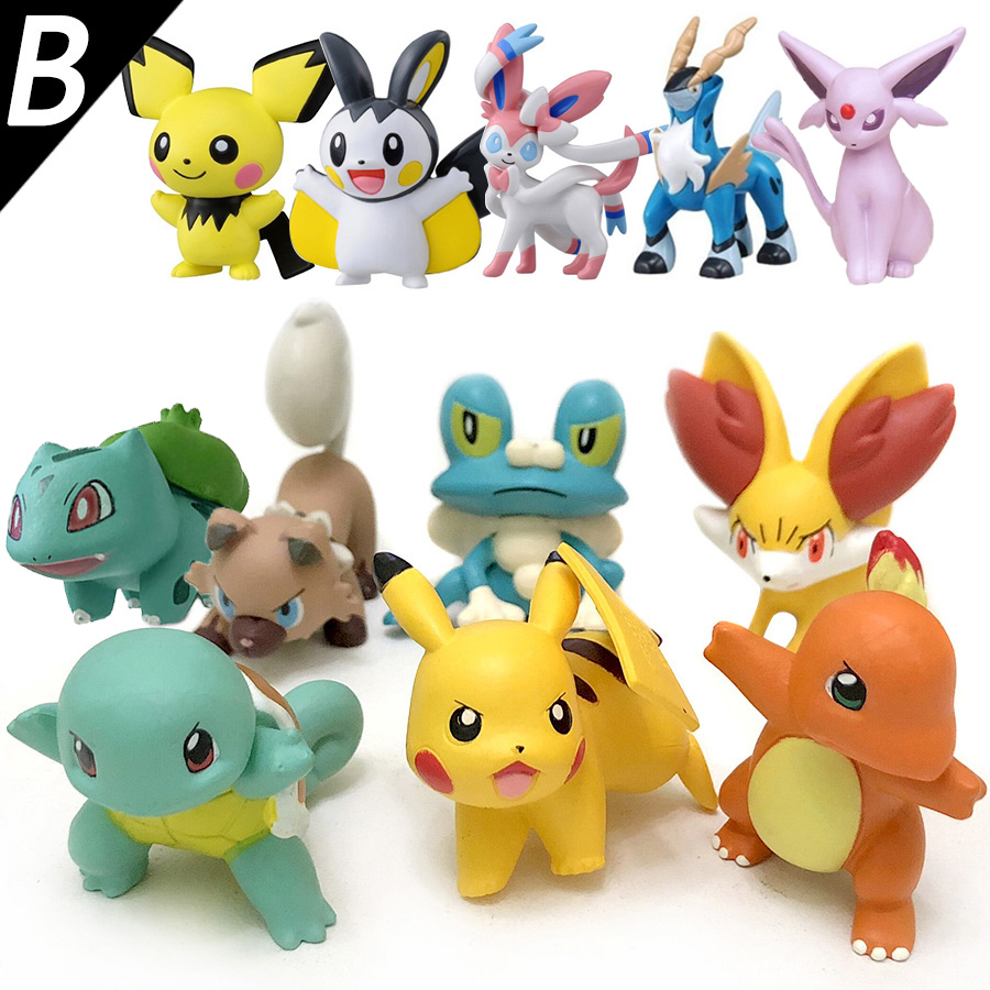 4cm Original Fennekin Squirtle Charmander Froakie Pikachu anime action toy figures Collection model toys KEN HU