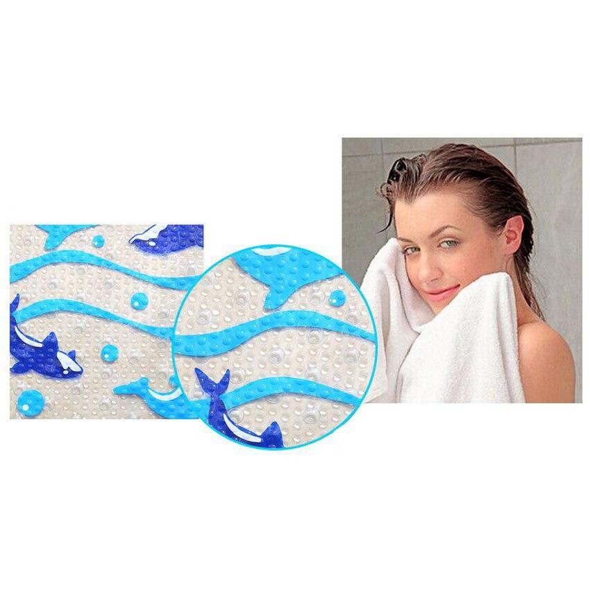 Cizgi filmi Dolphin PVC Hamam Mat Hamam Ayaqyolu Hamam tualeti - Ev əşyaları - Fotoqrafiya 2