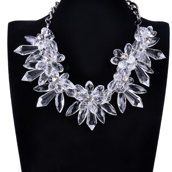5 Colors High Quality ZA Necklaces Fashion Party Chunky Luxury Choker Crystal Pendants Necklace Statement Jewelry For Women