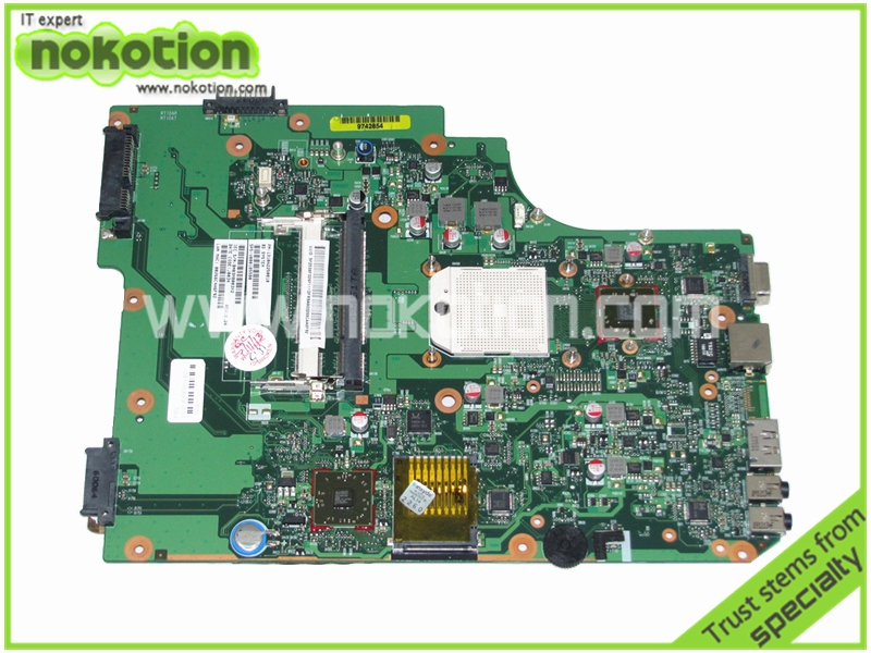 NOKOTION PN 1310A2250810 SPS V000185580 Laptop Motherboard for Toshiba SATELLITE L505 L505D ATI HD 4200 DDR2 Mainboard