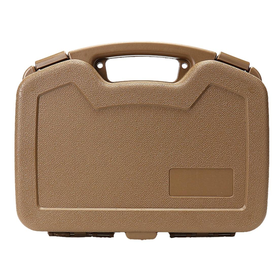 Portable Plastic Drop Resistance Protective Safety Box Storage Case for Glock G18 Mini Water Gel Beads Blaster - Khaki/Black стоимость