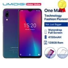 "UMIDIGI One Max küresel sürümü kabul 128GB 6.3 ""Waterdrop tam ekran Smartphone 4150mAh NFC kablosuz şarj Android 8.1 cep telefonu"
