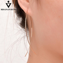 SHUANGR New Simple Design Personality Drop Earrings For Women 3 Colors Temperament Dangle Jewelry Gift