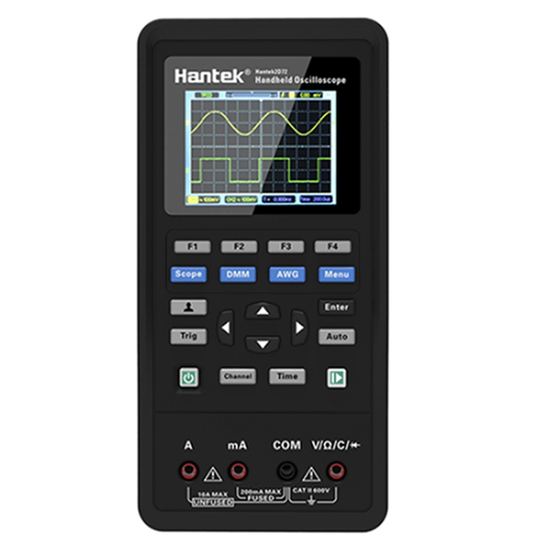 <font><b>Hantek</b></font> Portable 2 Channels Digital <font><b>Oscilloscope</b></font> 250MSa/S Waveform Generator USB <font><b>40mhz</b></font> 70mhz LCD Universal Multimeter Meter Tools image