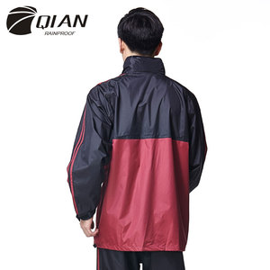 Image 3 - QIAN RAINPROOF Professionalผู้ใหญ่กลางแจ้งRainsuitซ่อนRainhatแฟชั่นMulti Functionalหนาเสื้อกันฝนคุณภาพสูง
