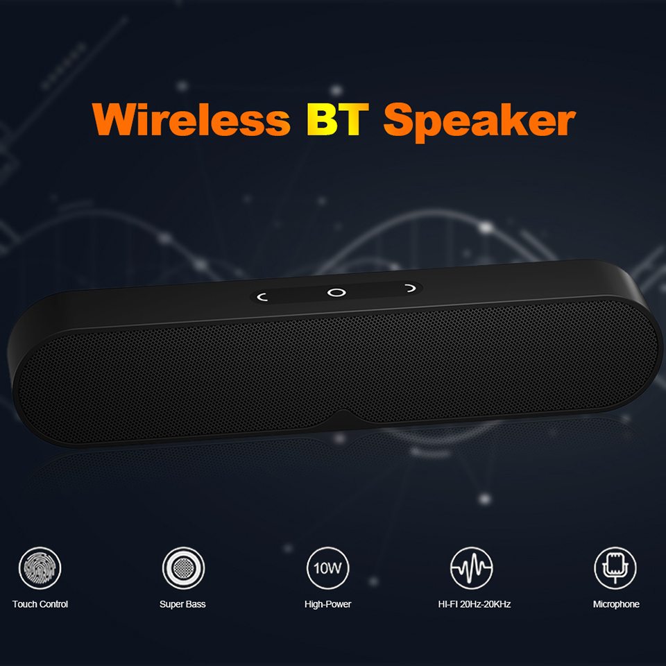 Wireless Bluetooth Speakers Portable Speaker Outdoor Loudspeaker Dual 5W Bass Stereo Hi Fi Sound with Mic 3