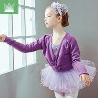 2pcs New Leotards Costume Kid Ballet Dress Coat Child Lace Strap Dance Clothes Gymnastics Leotard Girls