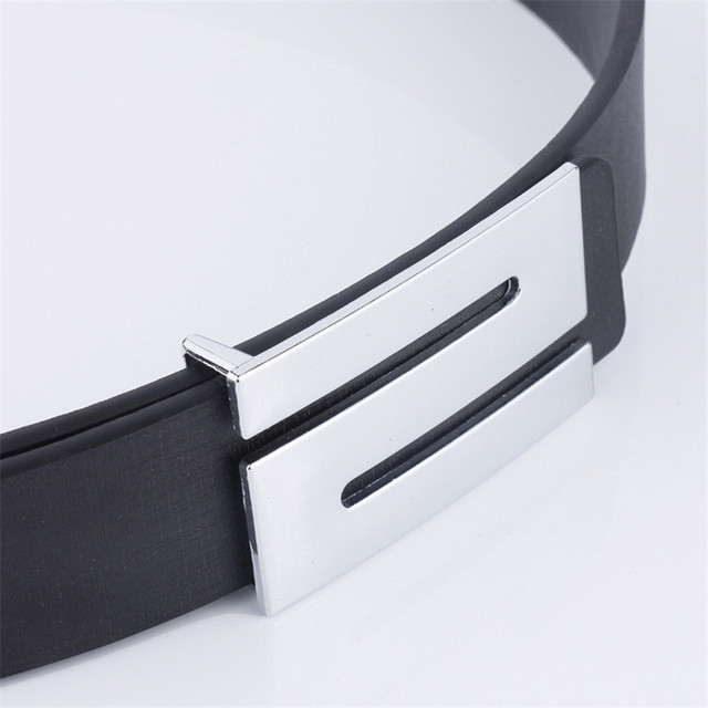 Top Quality Men  Leather S- Buckle Belt