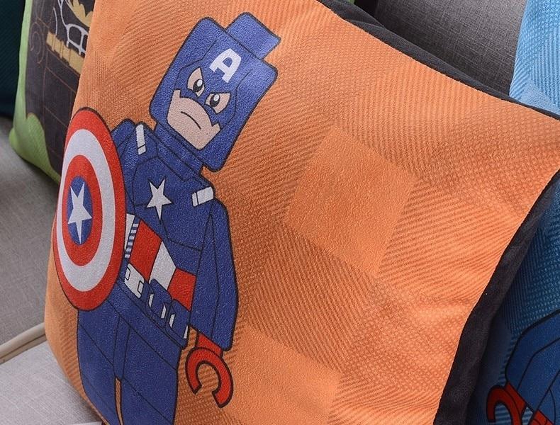 Америка супер герой Супермен Человек паук Железный человек чудо-подушка с изображением Женщины чехлы на диван сиденье бархатное покрытие для подушки наволочка