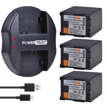 3Pcs 2900mAh BP 828 BP828 BP 820 Li Ion Batterij + USB Lader voor Canon VIXIA GX10, HF G30, HF G40, XA11, XA15, XA20, XA25, XA30, XA35