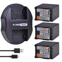 3Pcs 2900mAh BP 828 BP828 BP 820 ליתיום סוללה + USB מטען עבור Canon VIXIA GX10, HF G30, HF G40, XA11, XA15, XA20, XA25, XA30, XA35