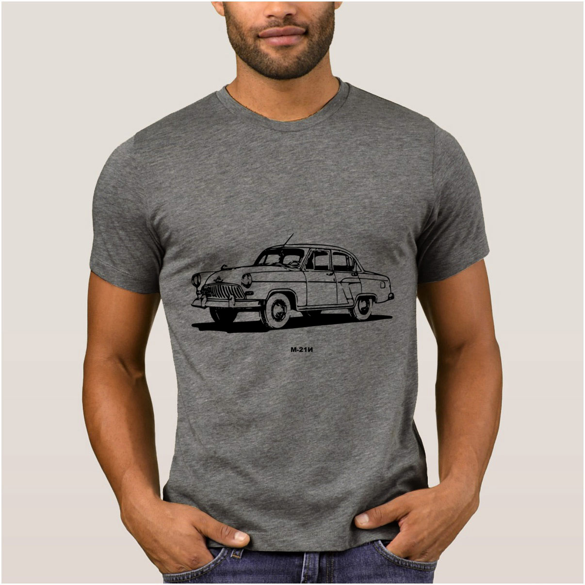 La Maxpa Entwicklung beste herren t-shirt gaz 21 volga auto t-shirt herren Frühling Herbst Vintage t shirt männer slim günstige