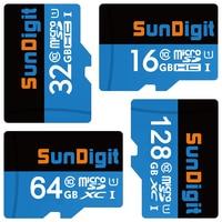 Sundigitจริง128กิกะไบต์64กิกะไบต์32กิกะไบต์16กิกะไบต์M Icrosd M Icrosdhc Micro sdxc m icro SD SDHC SDXC Class10 c lass 10 UHS-1 TFหน่วยความจำบัต