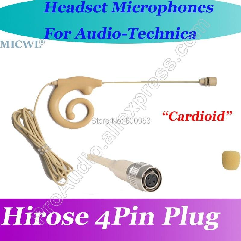 MICWL T90 Wireless Headset Microphone Mic for Audio-Technica Bodypack emitter Cardioid Directivity capsule Hirose 4Pin plug