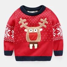 boys christmas sweater deer Red Girl Baby kids cartoon 2017 spring autumn xmas clothes raindeer elk