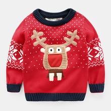 boys font b christmas b font sweater deer Red Girl Baby kids cartoon 2017 spring autumn