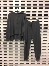 цены на Tracksuits Crop Top And Skirt Set Direct Selling Blends Full None 2017 New Leisure Hoodie Knit Tops + Drawstring Pants Two Sets  в интернет-магазинах