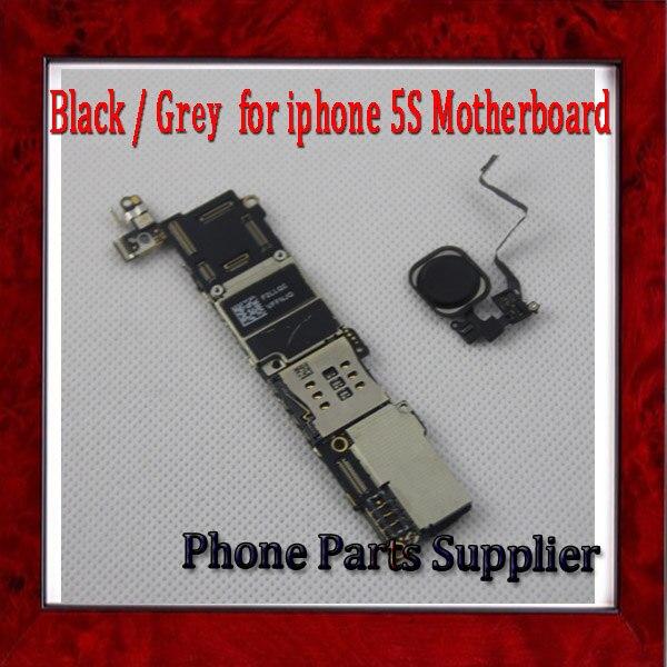 imágenes para 32 gb para iphone 5S Motherboard con Touch ID y Huellas Dactilares de Identificación, Negro Abierto Original para 5S Placa Base, envío Gratis