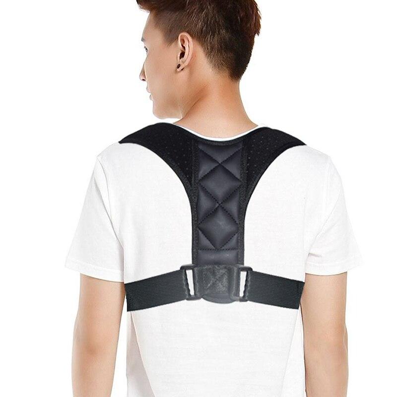 Unisex Back Support Belt Corset Orthopedic Brace Back Clavicle Posture Corrector  Shoulder Corrector Adjustable Prevent Slouchin