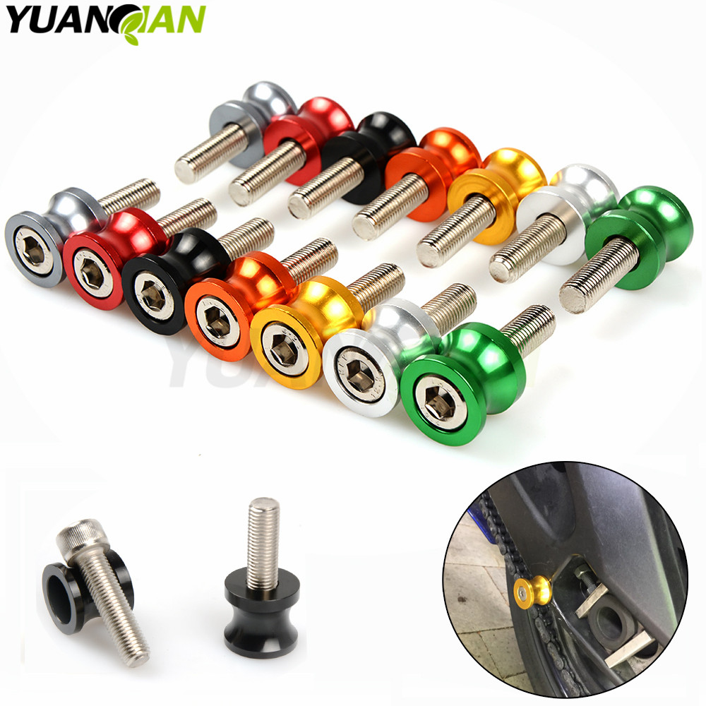 Motorbike Stands 6mm-10mm Aluminum Swingarm Spools Slider Stand Screws For Yamaha MT01 MT03 MT09 MT-09 YZF R1 R6 FZ1 FZ6 FZ6R 6mm swing arm spools sliders for yamaha r7 yzf r1 r6 r6s fz1 fz6 fz6r 8 colors