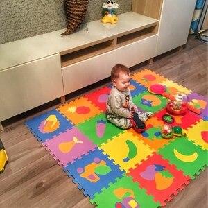 Image 3 - 10PCS Pack Baby Puzzle Mat Baby Play Mat Floor Puzzle Mat EVA Children Foam Carpet Mosaic Floor Play Mats 4 Style PX10
