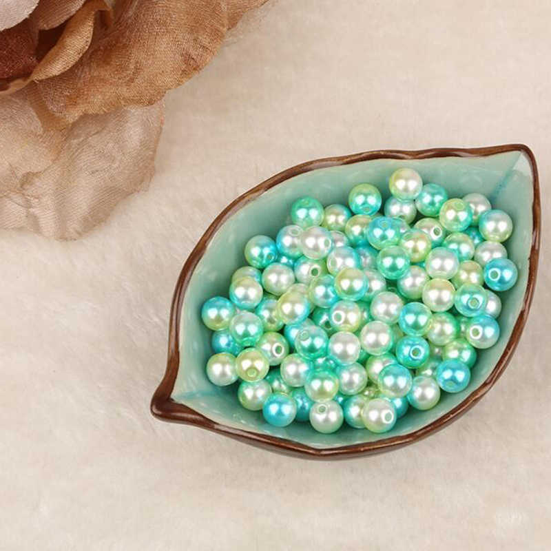 100pcs/pack 8mm Colorful Imitation Pearl DIY Handmade Beaded Jewelry Plastic ABS Beads Needlework DIY Handmade Materials