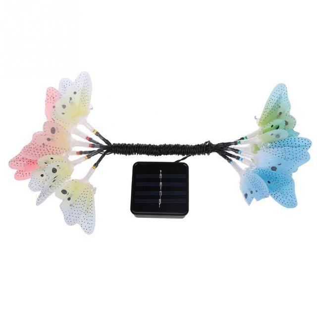 12pcs LED Butterfly Fiber Optic Fairy LED Outdoor Garden Lights Patio Fence Ornament light garden decoration