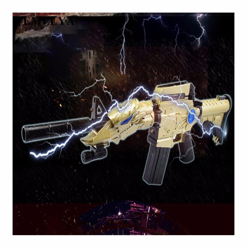 Rafales de l'eau électrique balle molle pistolet jouet un coup double-utiliser bataille de pistolet enfants pistolet jouet jouets pour enfants