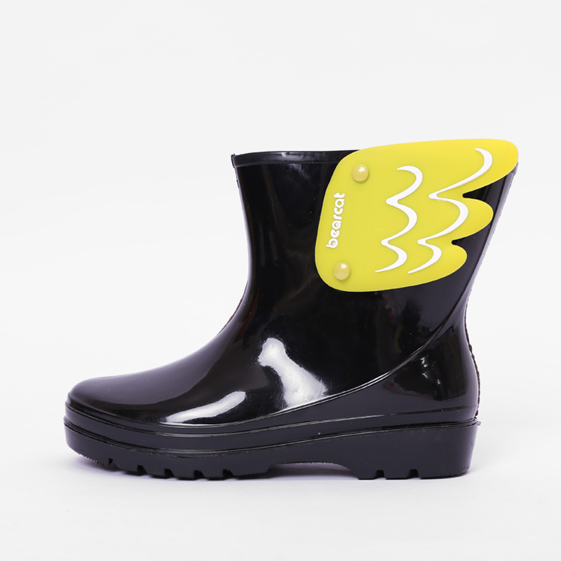 MAGGIE'S WALKER Baby Boots Kid Rain Boots Mid Cut Kids Fashion Water Shoes Cartoon Wing Fly Waterproof Rubber Boots Jelly Shoes children rain boots baby girl boy kids neutral unisex water shoes anti skid cartoon rubber shoes cartoon waterproof rain boots