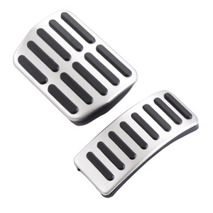 Image 2 - Stainless steel Car Pedals Cap Clutch Accelerator Brake Cover for VW Polo Golf 4 Jetta MK4 Bora For Skoda Fabia ,car styling