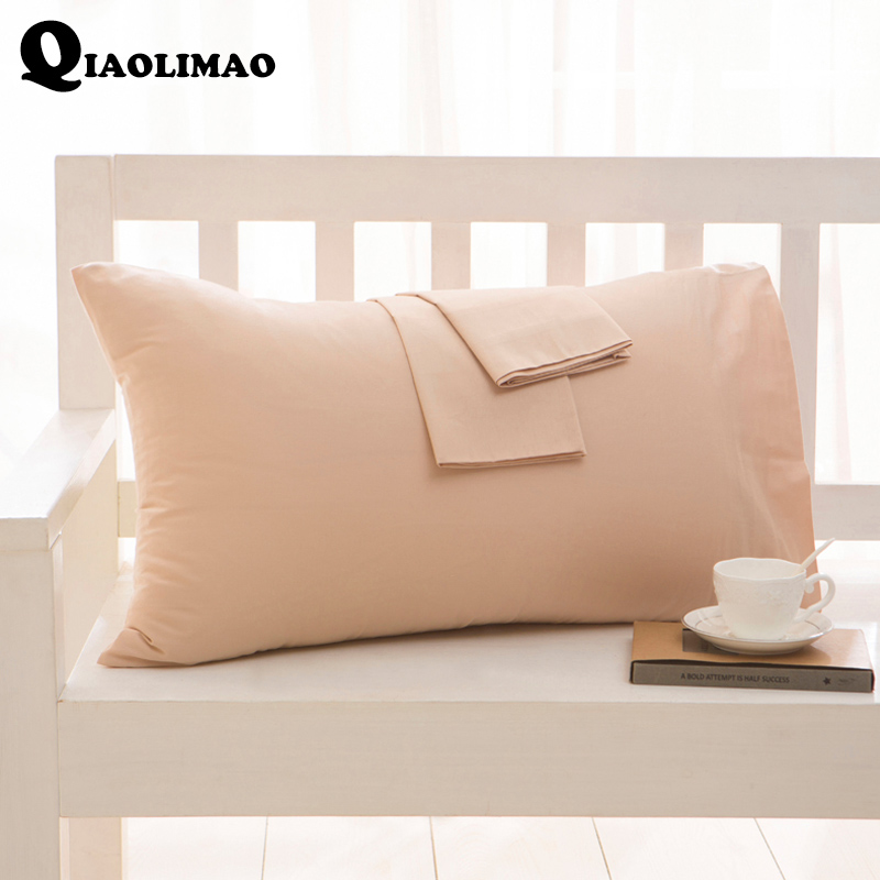 HOT 1 Piece 50*90cm High Quality 100% Cotton Pillowcase Fashion Solid Color Printed Pillow Case Brief Style Bedding Pillow Cover