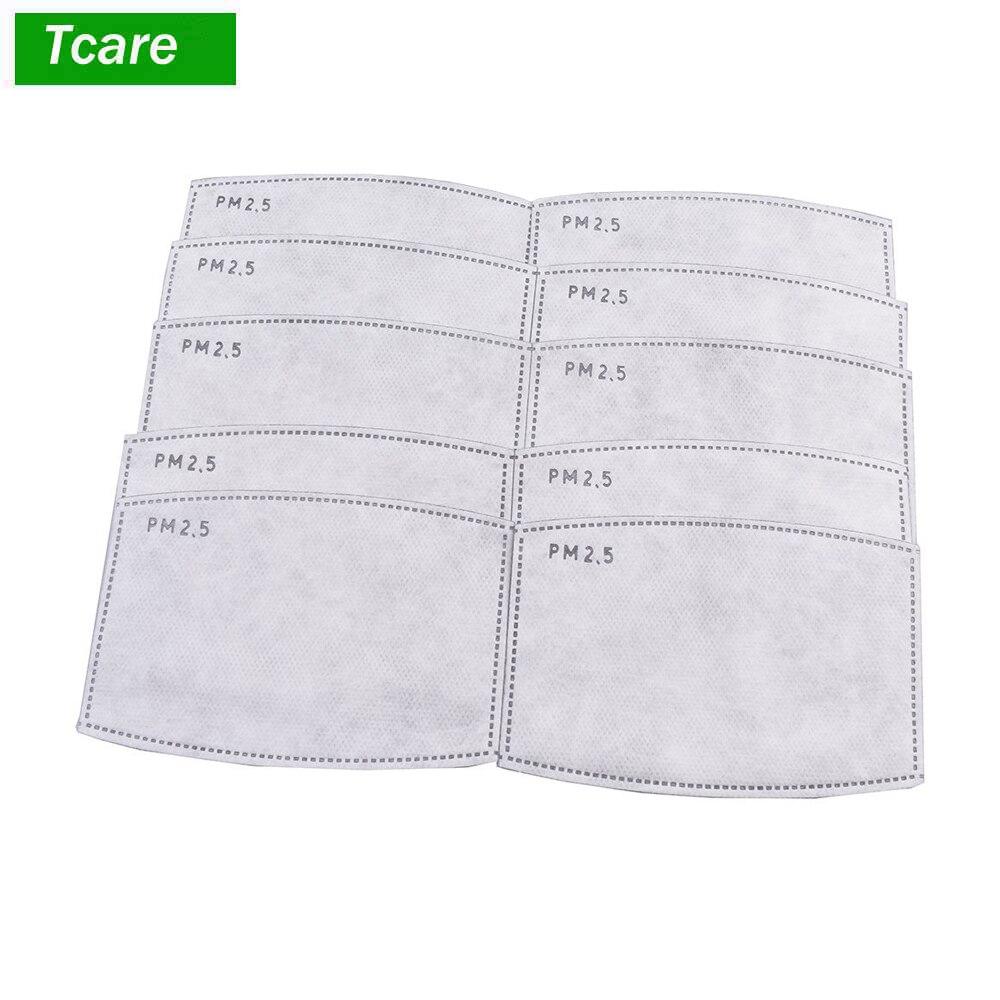 Tcare 10pcs/Lot PM2.5 Filter paper Anti Haze mouth Mask anti dust mask Filter paper Health Care plastic