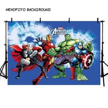 קומיקס Superhero נוקמי איש ברזל רקע צילום ילדי להראות יום הולדת תמונה מותאם אישית אבזר סטודיו רקע רקע