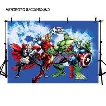 Comics Superhero Avengers Iron Man Photography Backdrop children show Birthday Photo customized Prop Studio Background