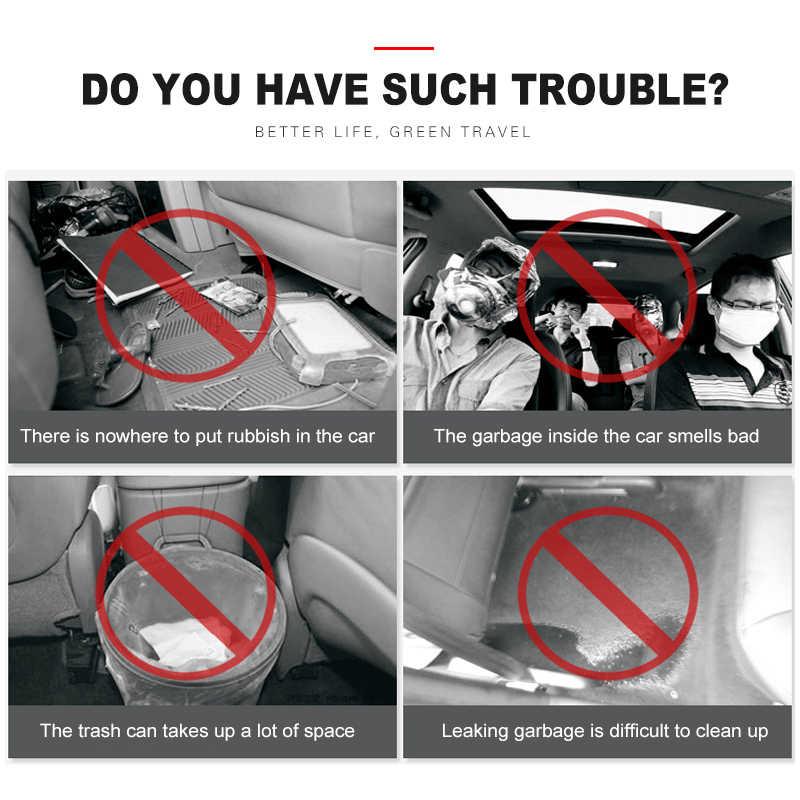 5x รถที่นั่งด้านหลังรถ trunk organizer รถ Accessorie ย่อยสลายได้ถังขยะขยะผู้ถือกระเป๋าเก็บขยะ